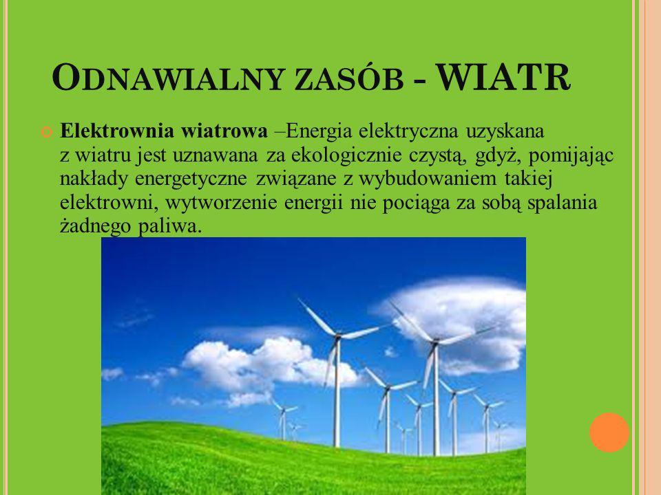 Odnawialny zasób - WIATR