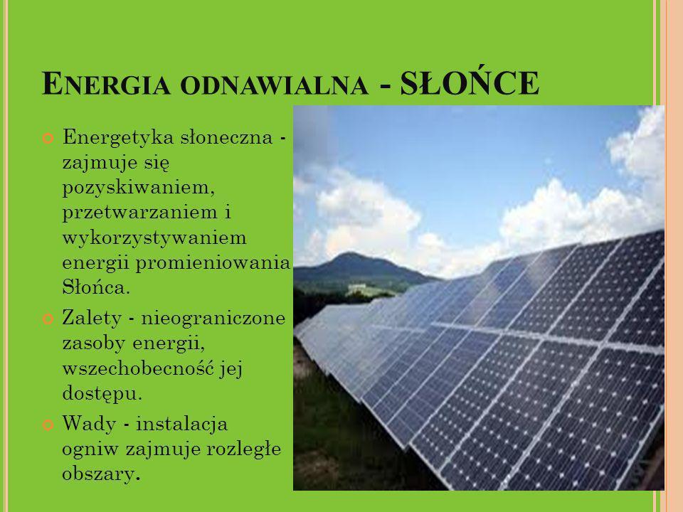 Energia odnawialna - SŁOŃCE