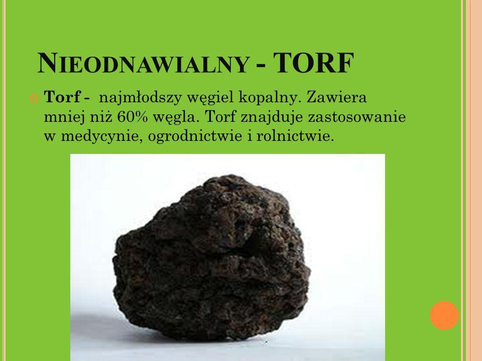 Nieodnawialny - TORF