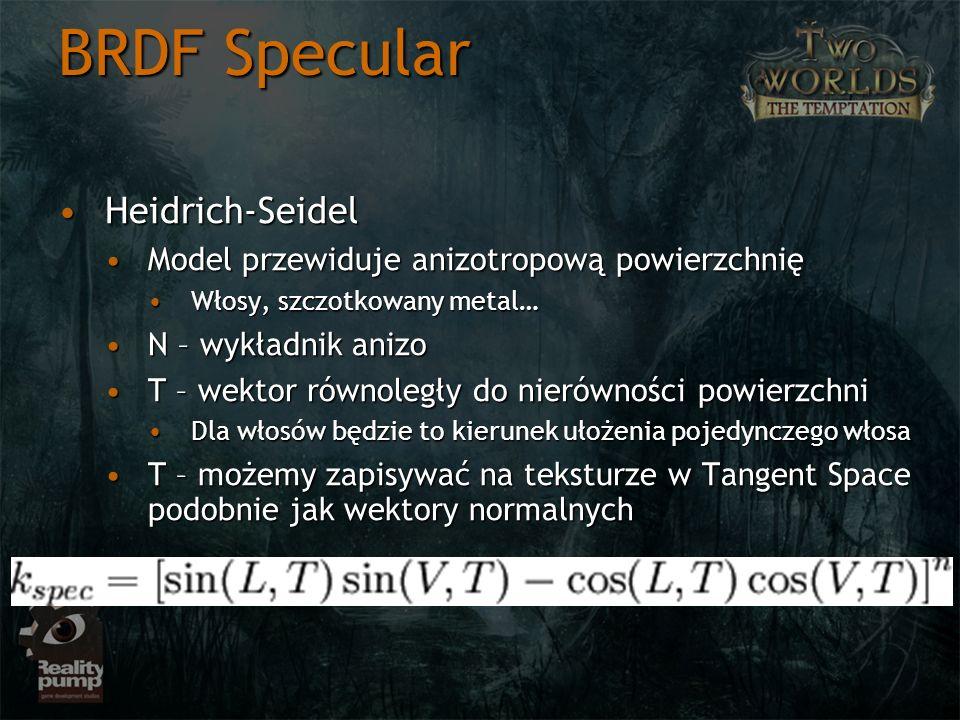 BRDF Specular Heidrich-Seidel
