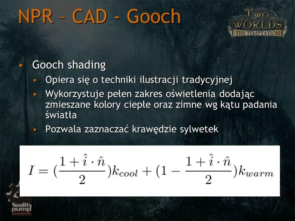 NPR – CAD - Gooch Gooch shading