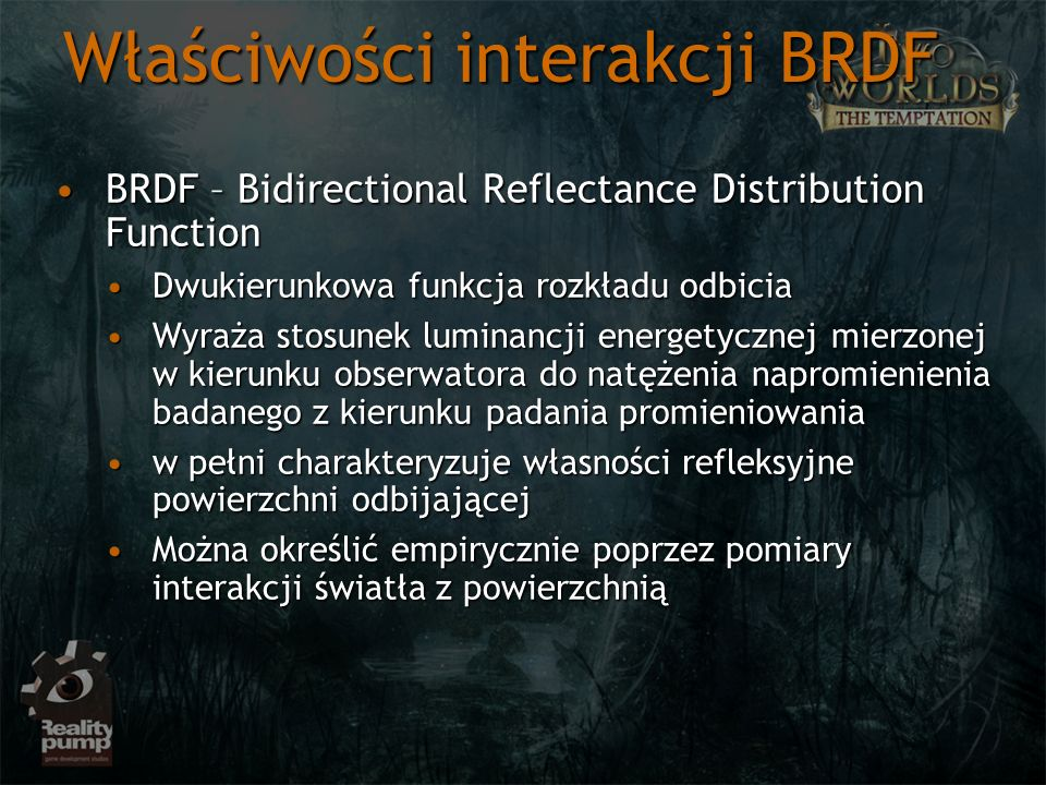 Właściwości interakcji BRDF