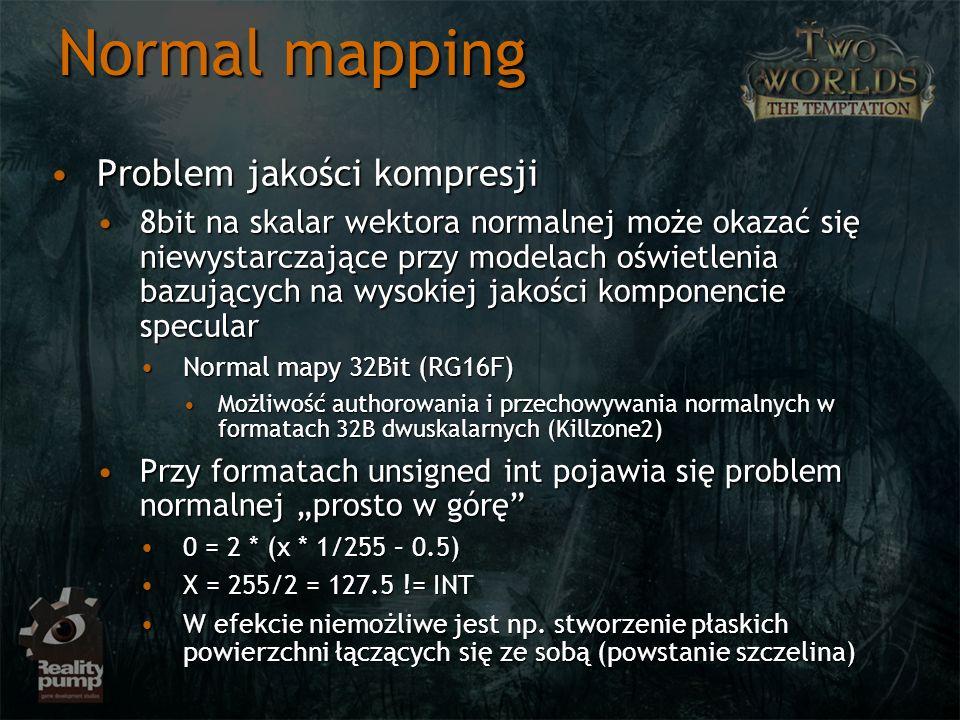 Normal mapping Problem jakości kompresji