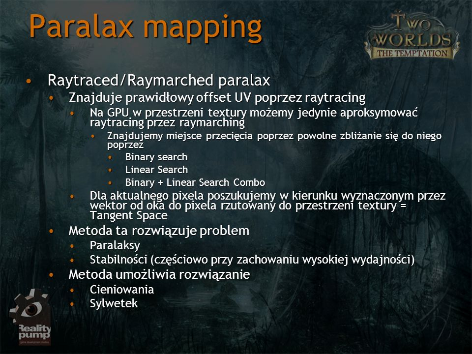 Paralax mapping Raytraced/Raymarched paralax