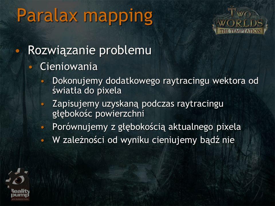 Paralax mapping Rozwiązanie problemu Cieniowania