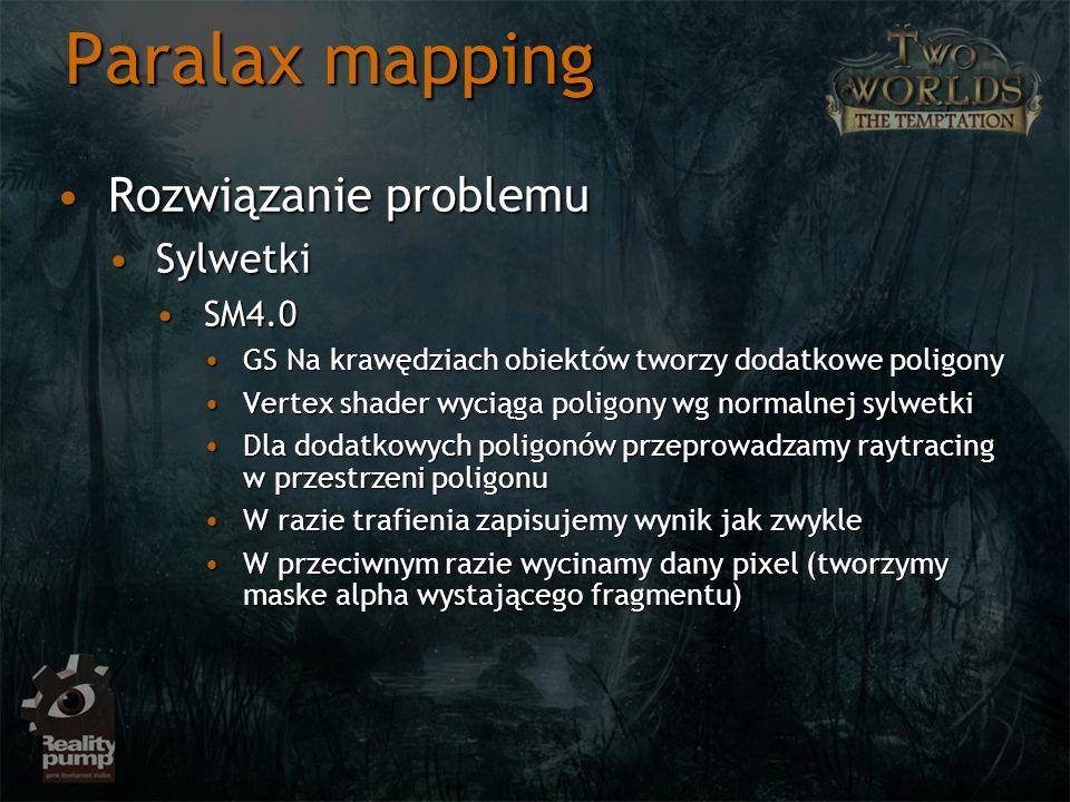 Paralax mapping Rozwiązanie problemu Sylwetki SM4.0
