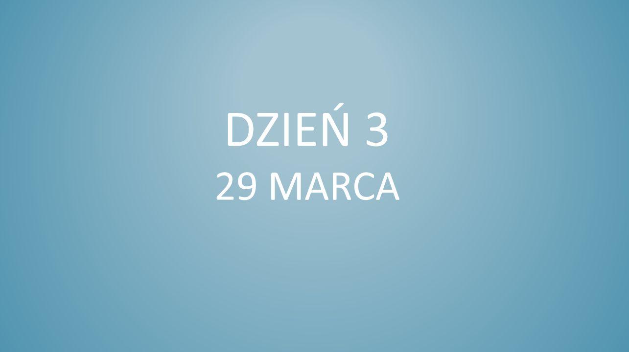Dzień 3 29 marca