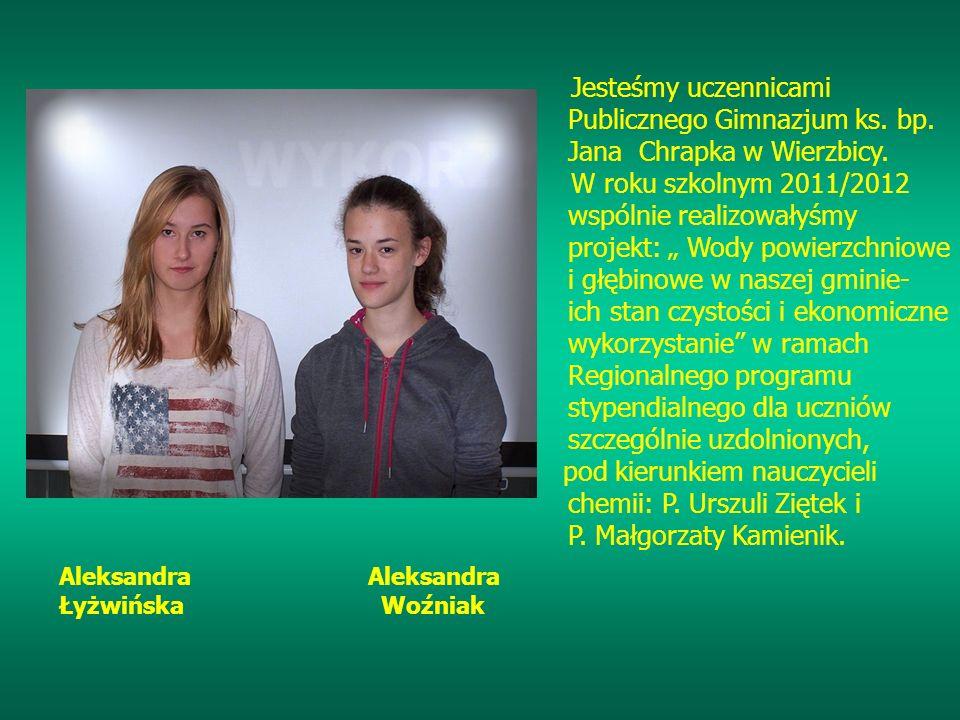 Jesteśmy uczennicami Publicznego Gimnazjum ks. bp