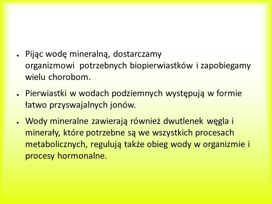Pijąc wodę mineralną, dostarczamy organizmowi potrzebnych biopierwiastków i zapobiegamy wielu chorobom.