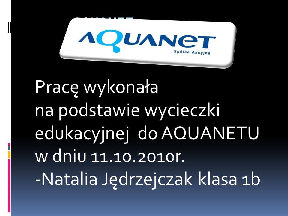 AQUANET Pracę wykonała. na podstawie wycieczki edukacyjnej do AQUANETU w dniu 11.10.2010r.