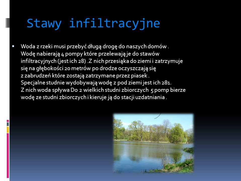 Stawy infiltracyjne