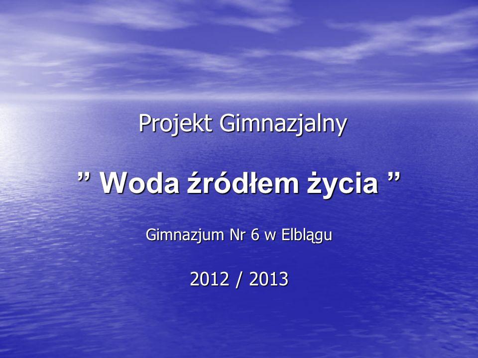 Projekt Gimnazjalny Woda źródłem życia