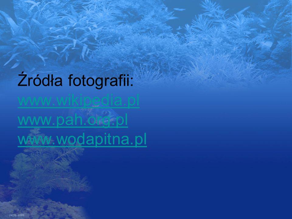 Źródła fotografii: www.wikipedia.pl www.pah.org.pl www.wodapitna.pl