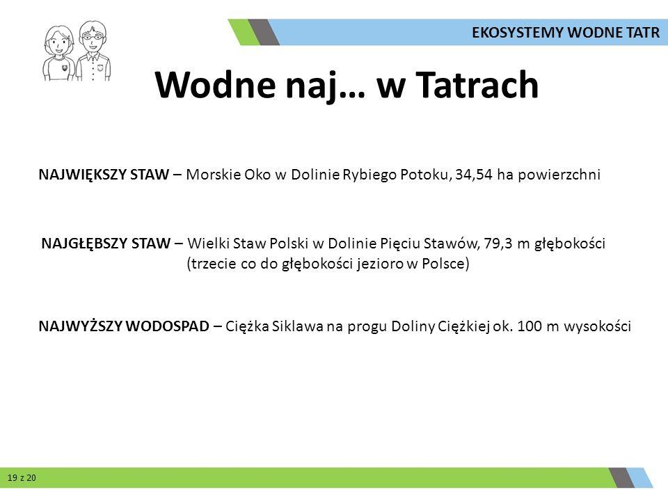 Wodne naj… w Tatrach EKOSYSTEMY WODNE TATR