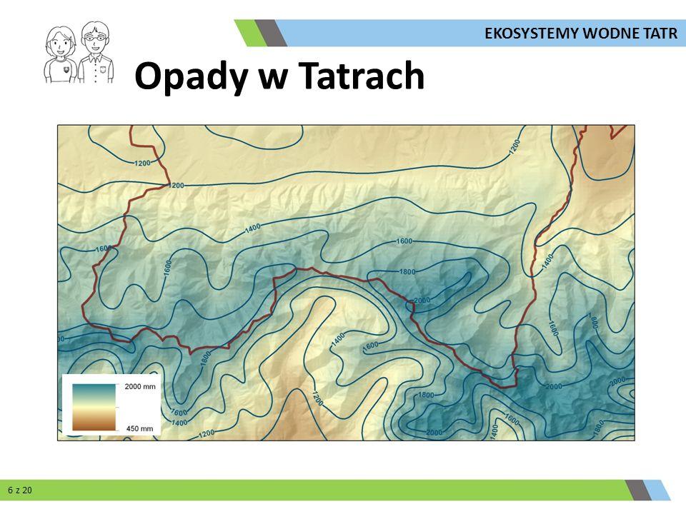 EKOSYSTEMY WODNE TATR Opady w Tatrach 6 z 20