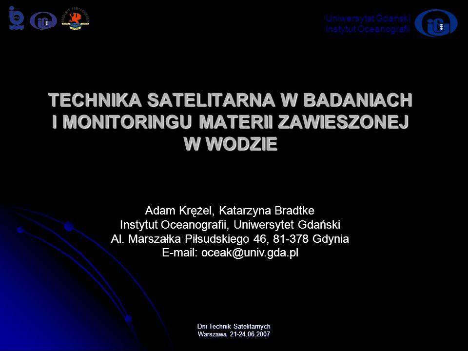 Uniwersytet Gdański Instytut Oceanografii