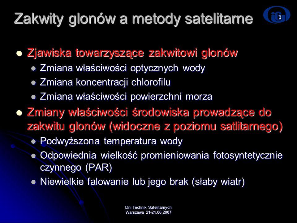 Zakwity glonów a metody satelitarne