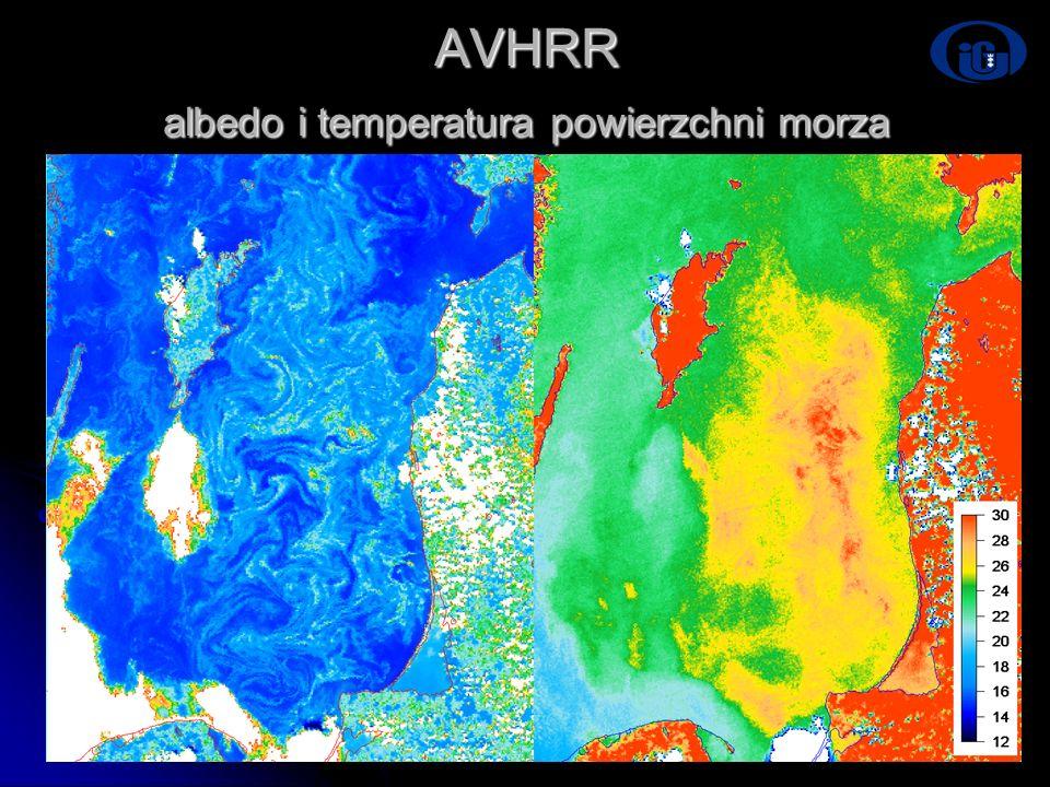 AVHRR albedo i temperatura powierzchni morza