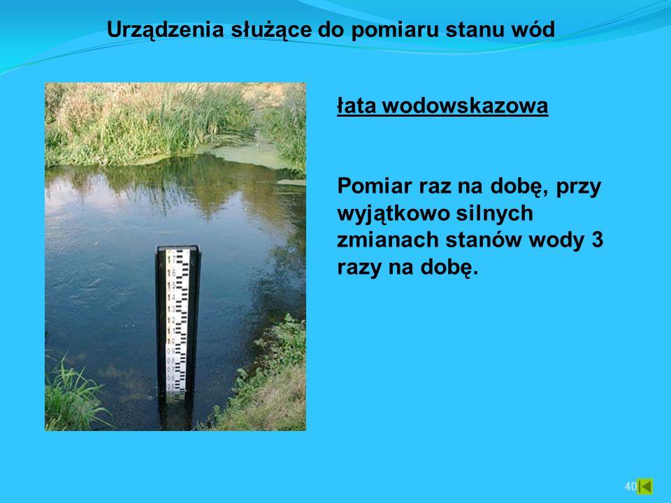 Urządzenia służące do pomiaru stanu wód