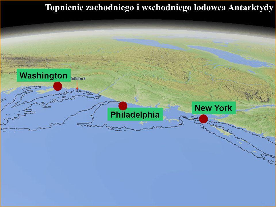 Topnienie zachodniego i wschodniego lodowca Antarktydy