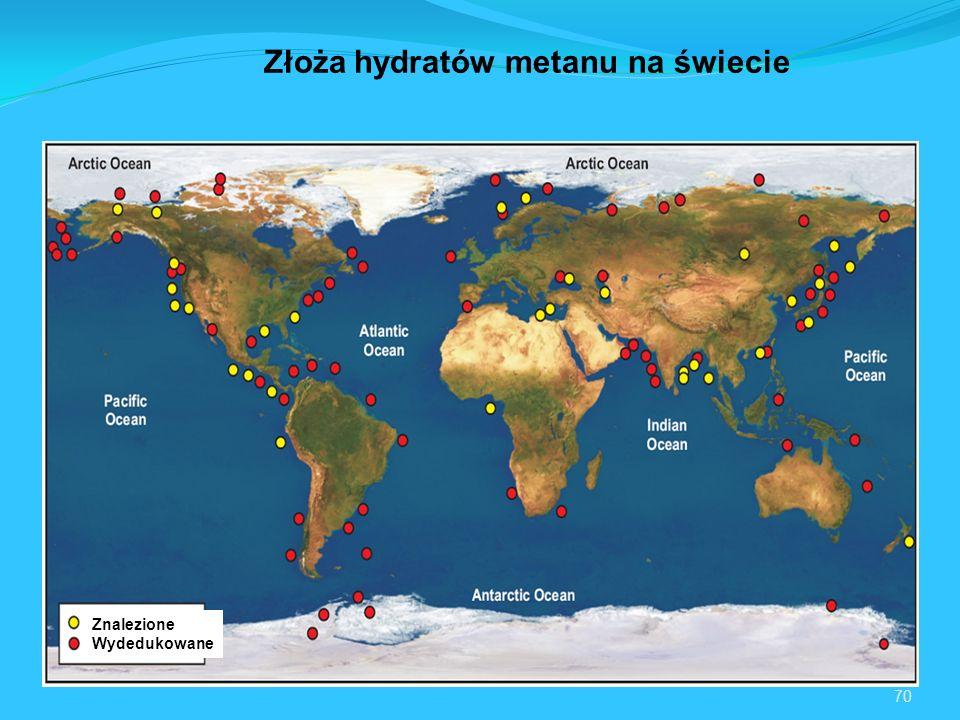 Złoża hydratów metanu na świecie