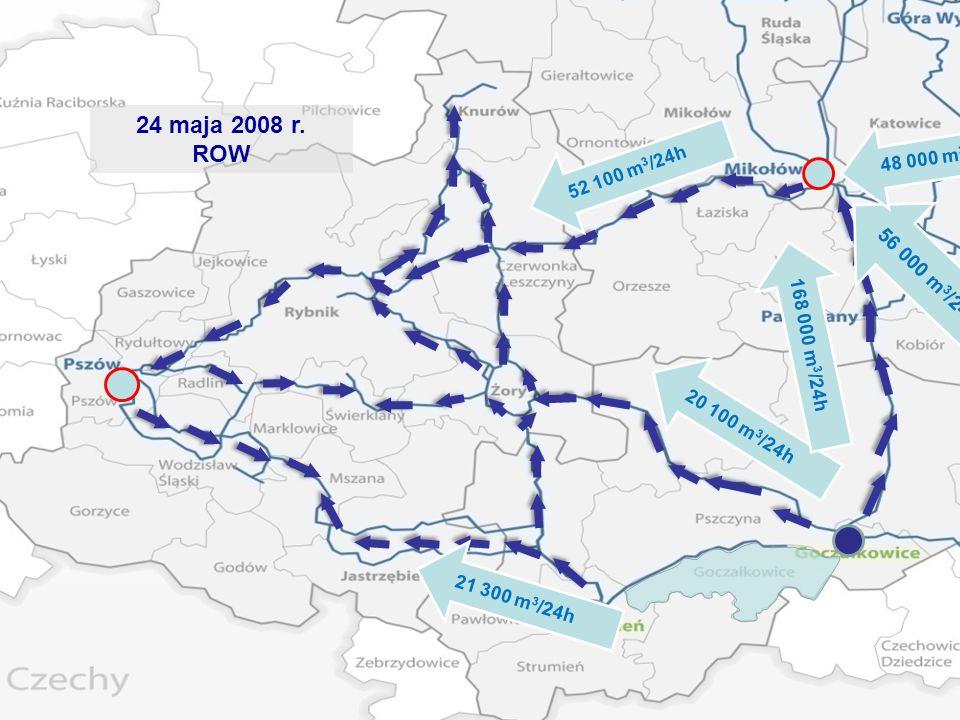 24 maja 2008 r. ROW. 48 000 m3/24h. 52 100 m3/24h. 56 000 m3/24h. 168 000 m3/24h. 20 100 m3/24h.