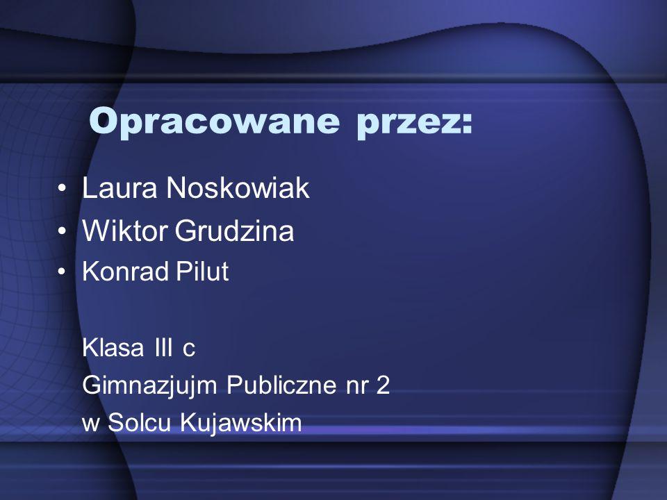 Opracowane przez: Laura Noskowiak Wiktor Grudzina Konrad Pilut