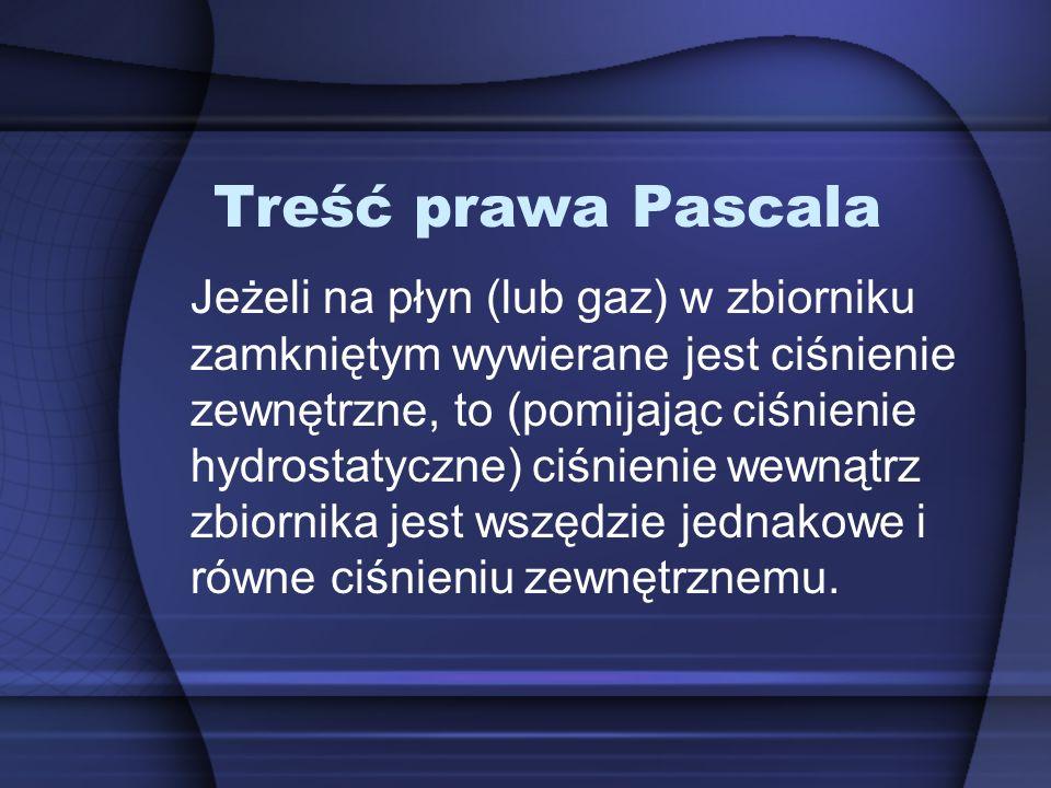 Treść prawa Pascala