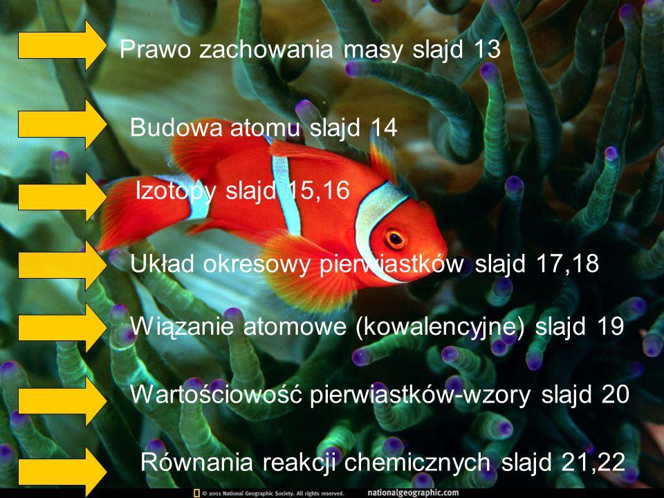 Prawo zachowania masy slajd 13