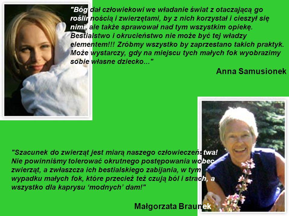 Anna Samusionek Małgorzata Braunek