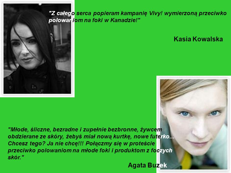 Kasia Kowalska Agata Buzek