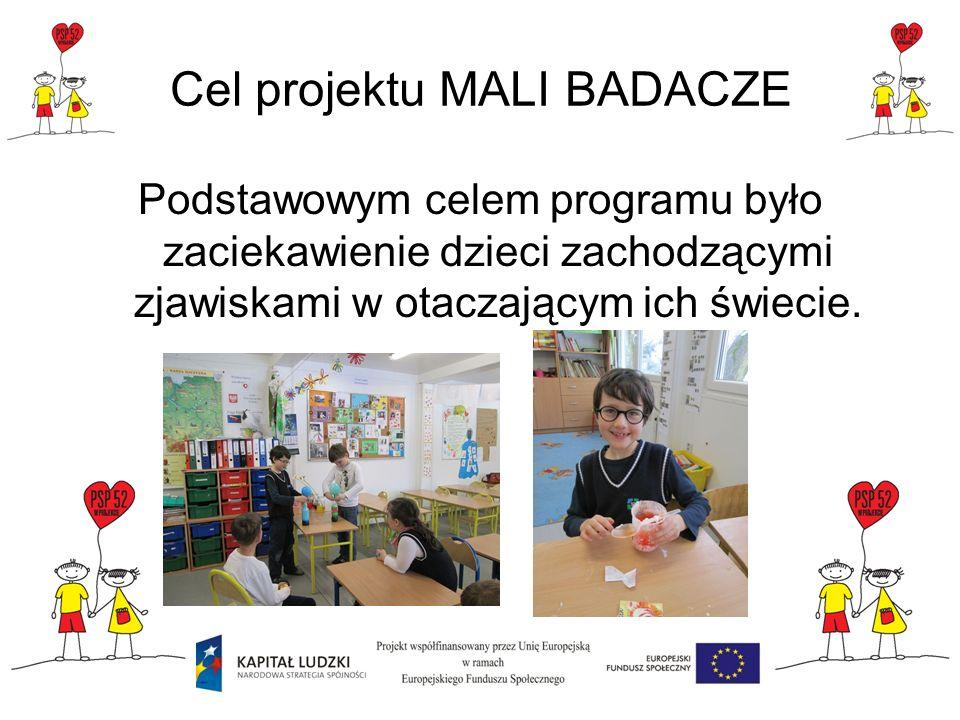 Cel projektu MALI BADACZE