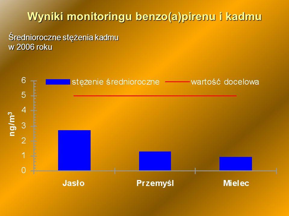 Wyniki monitoringu benzo(a)pirenu i kadmu