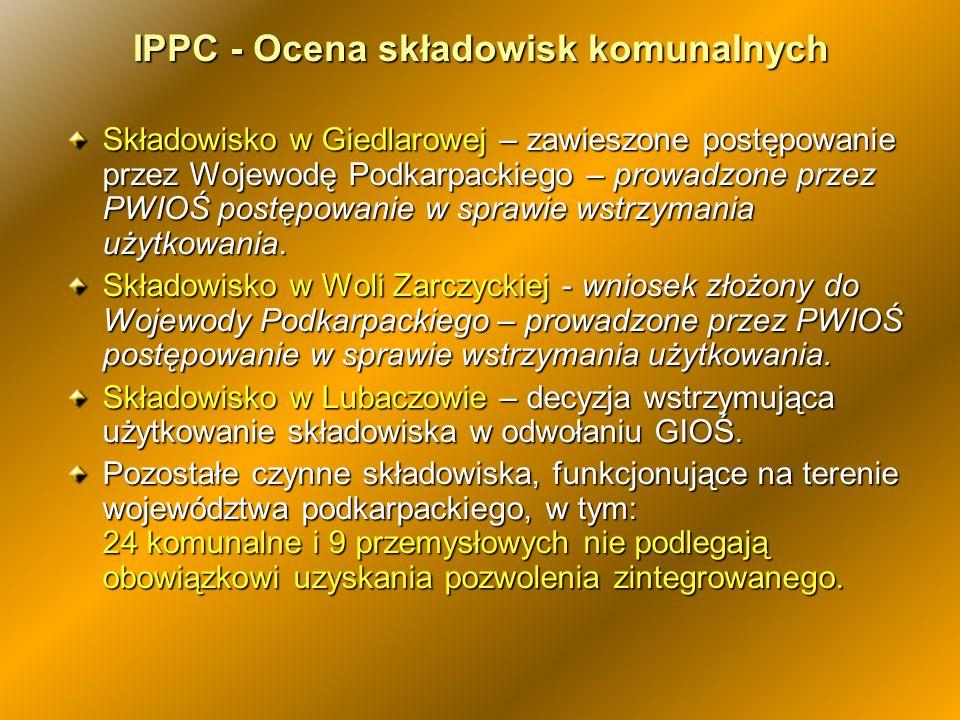 IPPC - Ocena składowisk komunalnych
