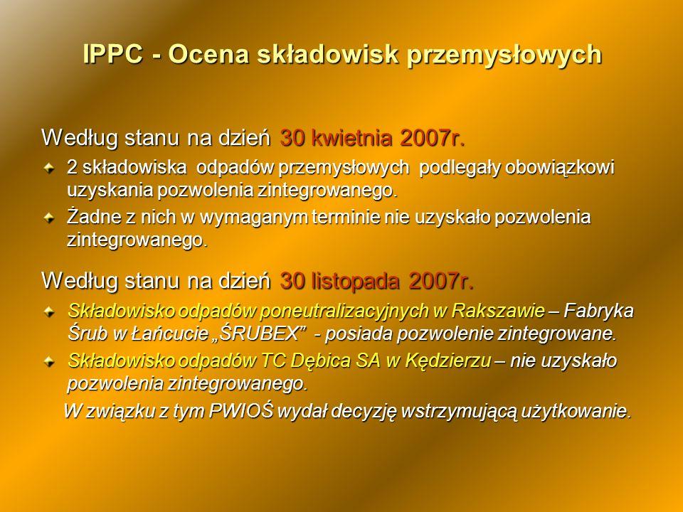 IPPC - Ocena składowisk przemysłowych