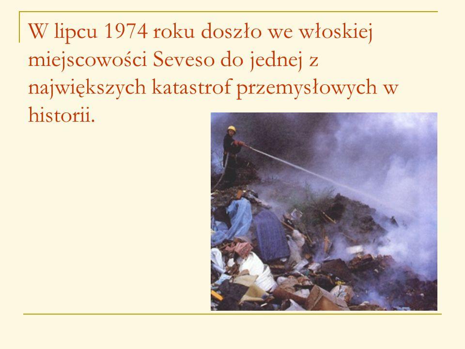 W lipcu 1974 roku doszło we włoskiej miejscowości Seveso do jednej z największych katastrof przemysłowych w historii.