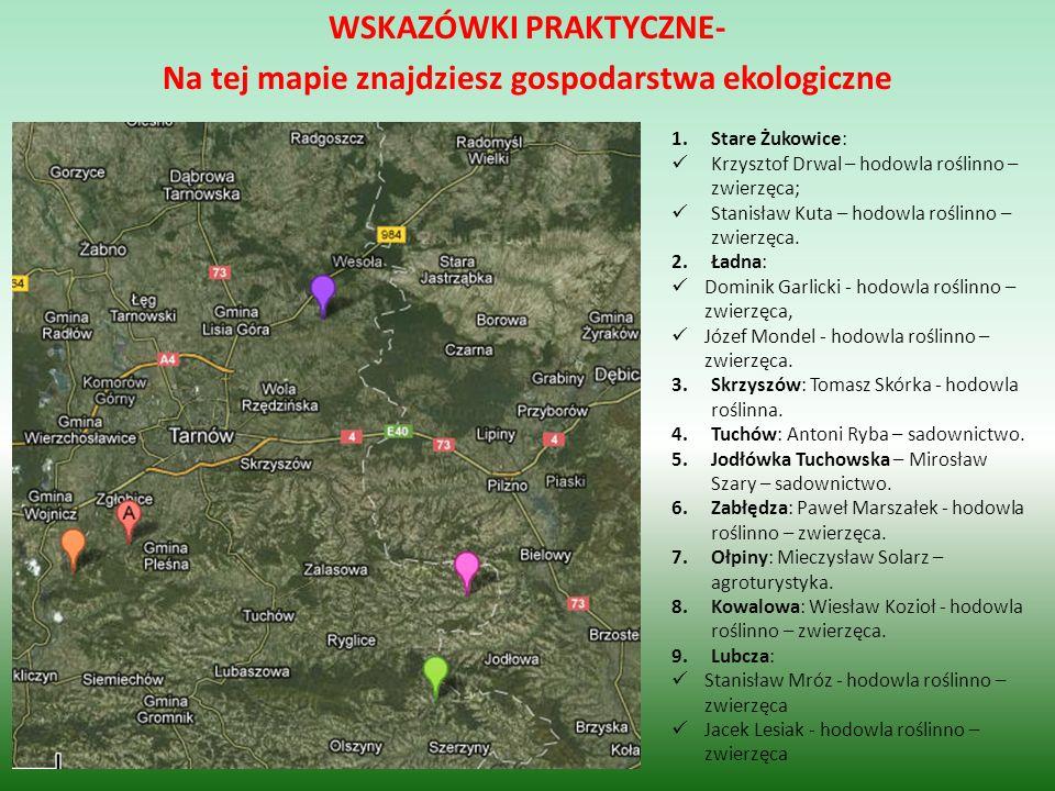 WSKAZÓWKI PRAKTYCZNE- Na tej mapie znajdziesz gospodarstwa ekologiczne