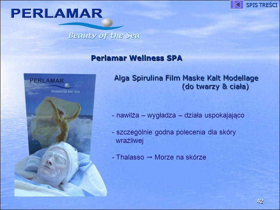 Alga Spirulina Film Maske Kalt Modellage (do twarzy & ciała)