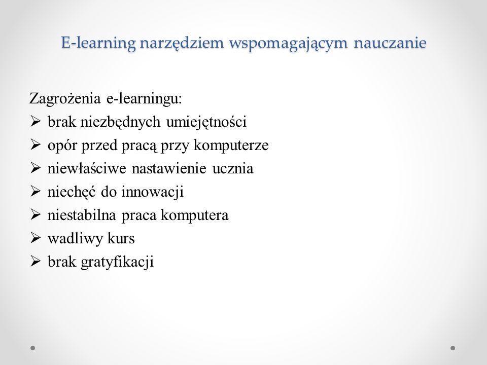 E-learning narzędziem wspomagającym nauczanie