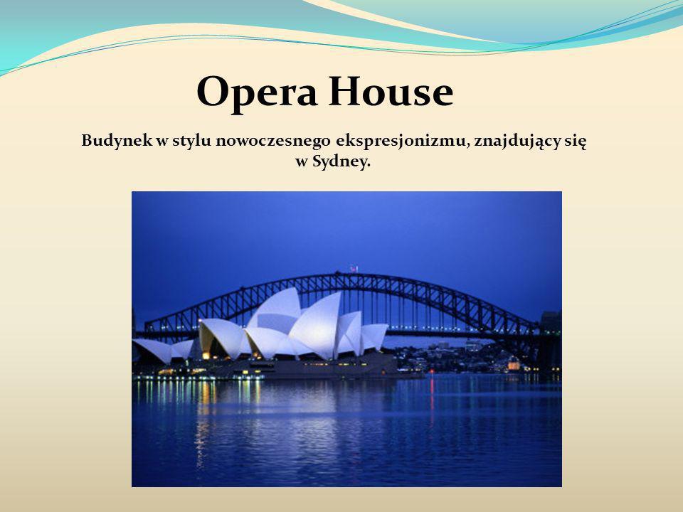 Budynek w stylu nowoczesnego ekspresjonizmu, znajdujący się w Sydney.