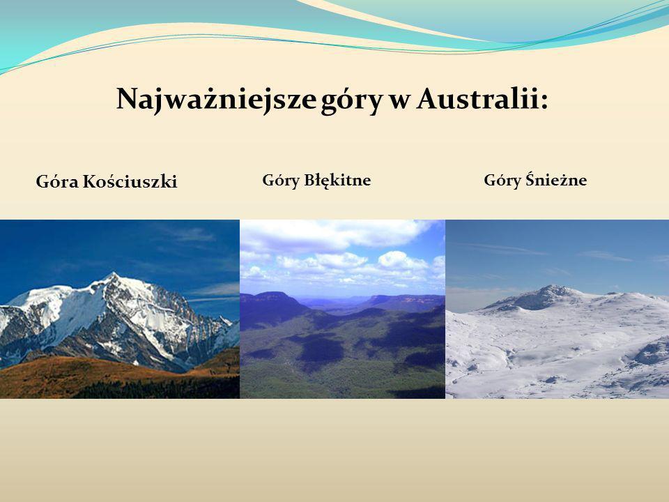 Najważniejsze góry w Australii: