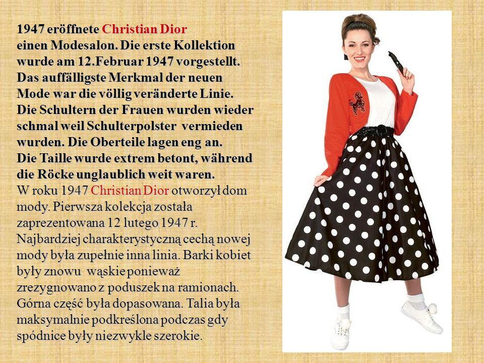 1947 eröffnete Christian Dior einen Modesalon