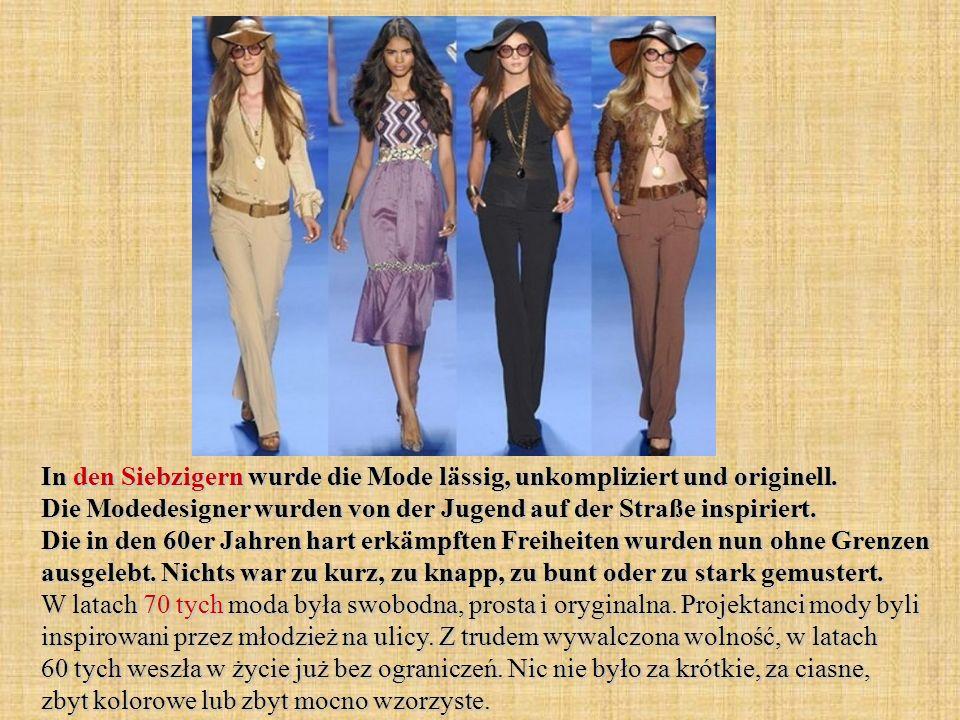 In den Siebzigern wurde die Mode lässig, unkompliziert und originell