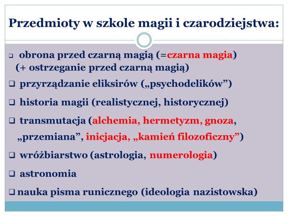 Przedmioty w szkole magii i czarodziejstwa: