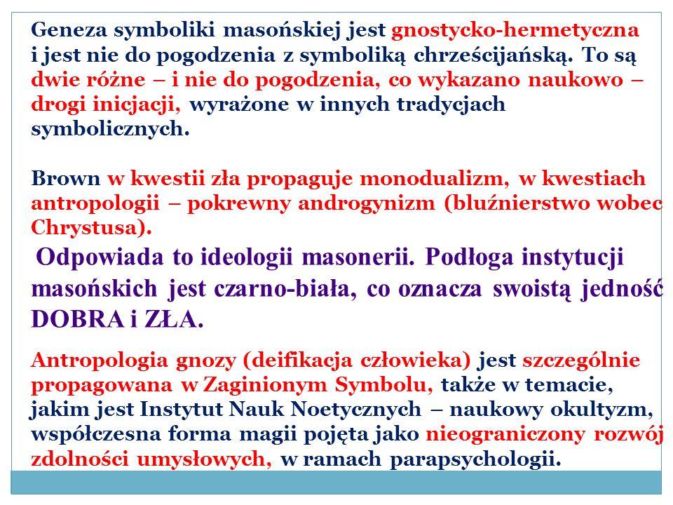 Geneza symboliki masońskiej jest gnostycko-hermetyczna