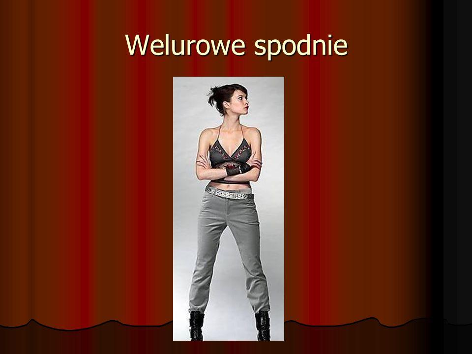 Welurowe spodnie