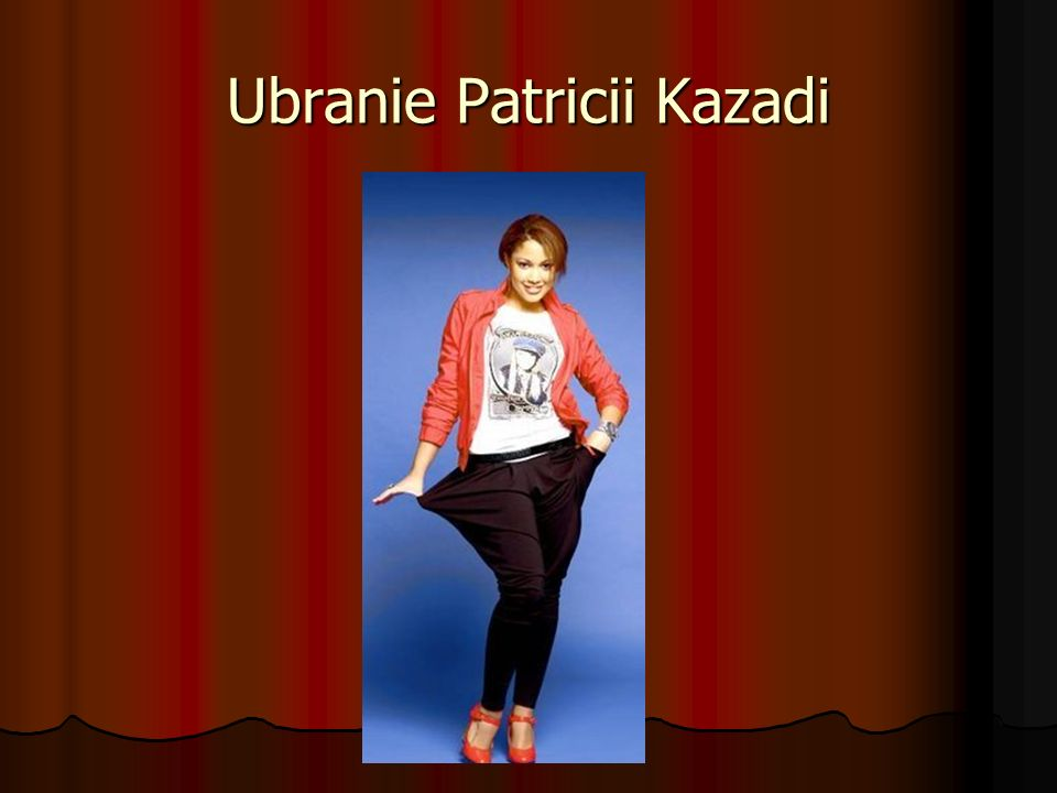 Ubranie Patricii Kazadi