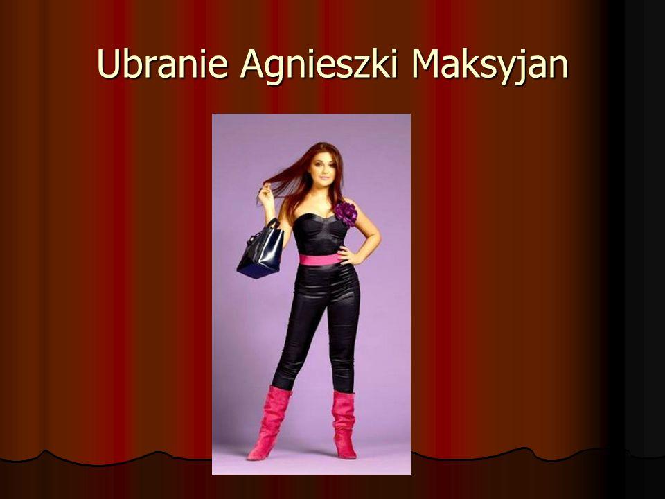 Ubranie Agnieszki Maksyjan