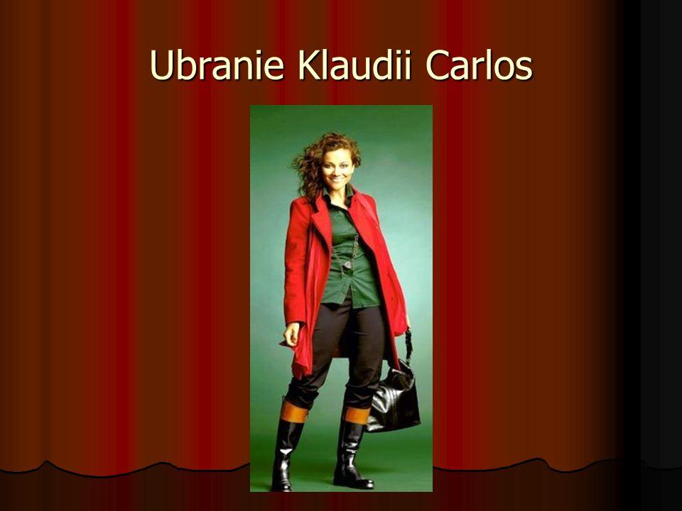 Ubranie Klaudii Carlos