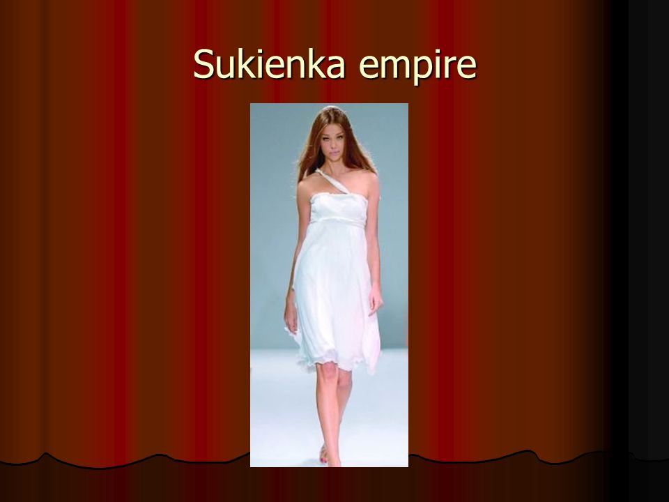 Sukienka empire